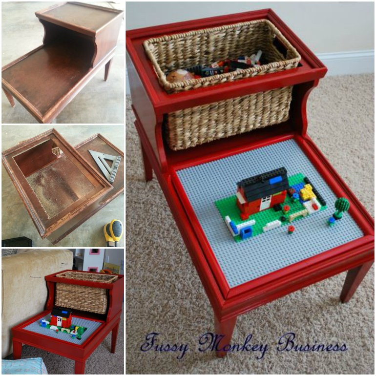 How to DIY Repurposed Lego Table