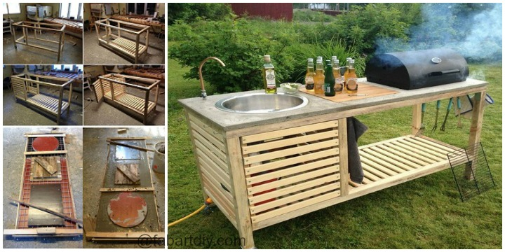 DIY Your Own Portable Outdoor Kitchen Instuctions and tutorials