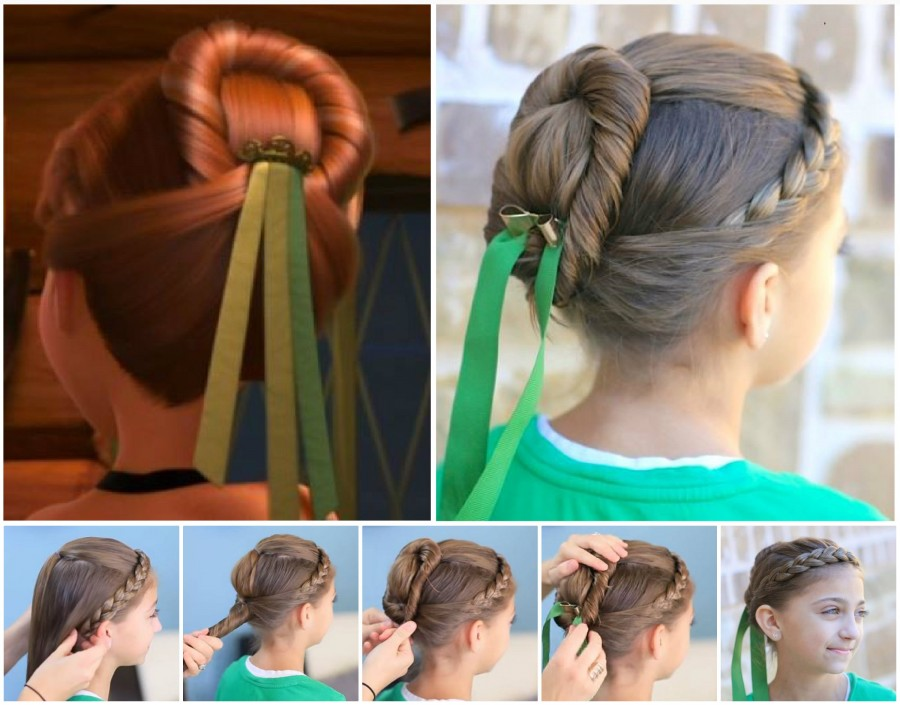 DIY Disney Anna Frozen Coronation Hairstyle Tutorial