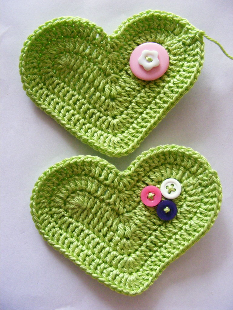 Fab Art DIY Crochet 3D Heart free pattern07a