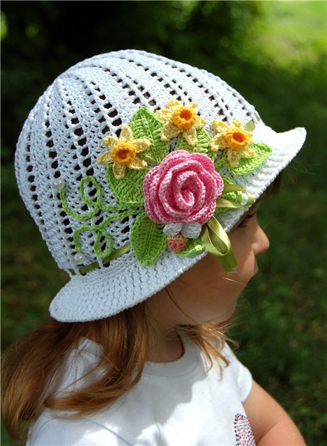 20+ Fab Art DIY Crochet Girl s Sun Hat with Pattern www ...