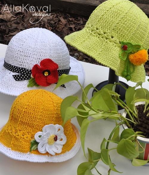 Free Crochet Pattern Spring Hat : 20+ Fab Art DIY Crochet Girl s Sun Hat with Pattern www ...