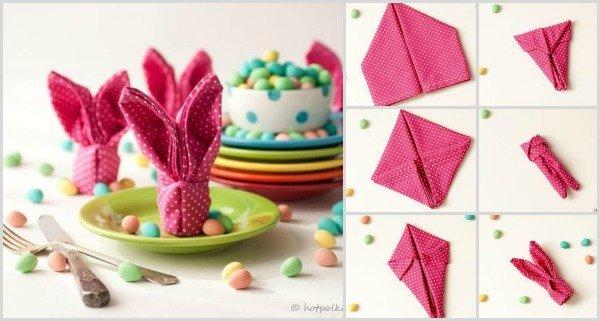 Fab Art DIY Easter Bunny napkin folding