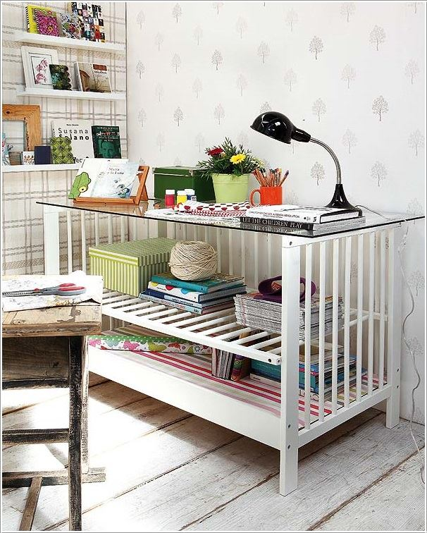 Fab Art DIY Furnitures from Repurposed Baby Cribs8