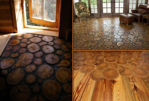 DIY End Grain Wood Flooring