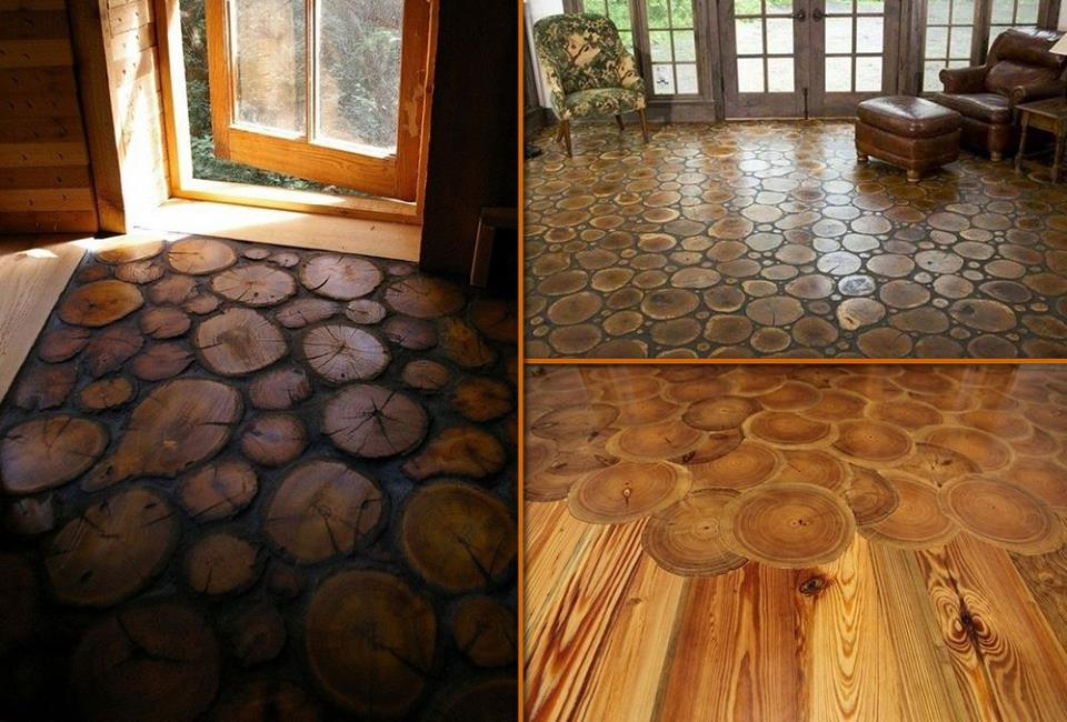 Fab art diy log home garden decor ideas - Interesting home interior flooring decoration with hardwood flooring ...