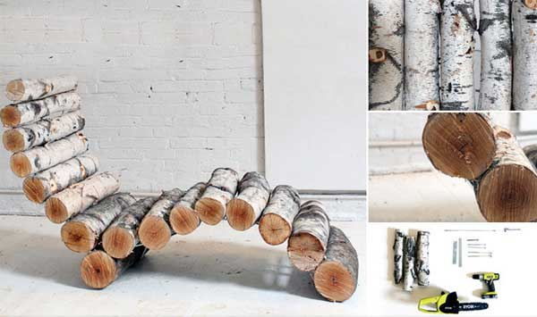 Fab Art DIY Rustic Log Decorating Ideas for Home and Garden16