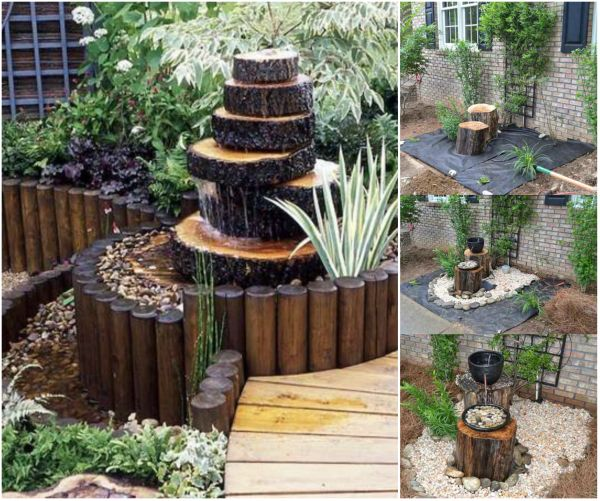 Fab art diy log home garden decor ideas www fabartdiy for Wooden garden decorations