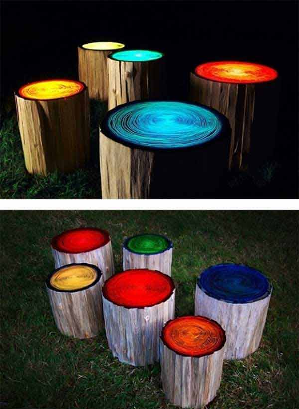 Fab Art DIY Rustic Log Decorating Ideas for Home and Garden22