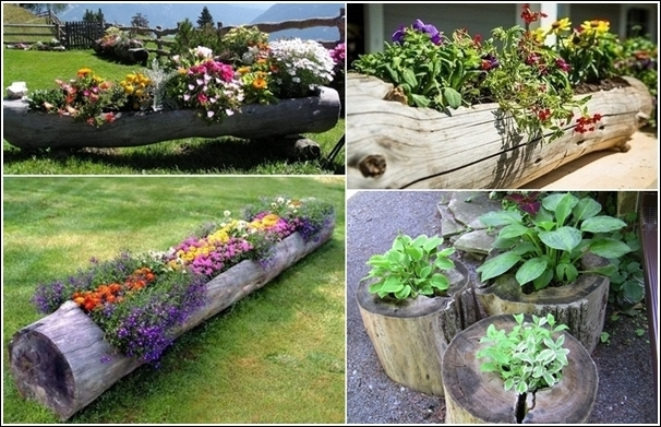Fab art diy log home garden decor ideas for Home garden decoration ideas