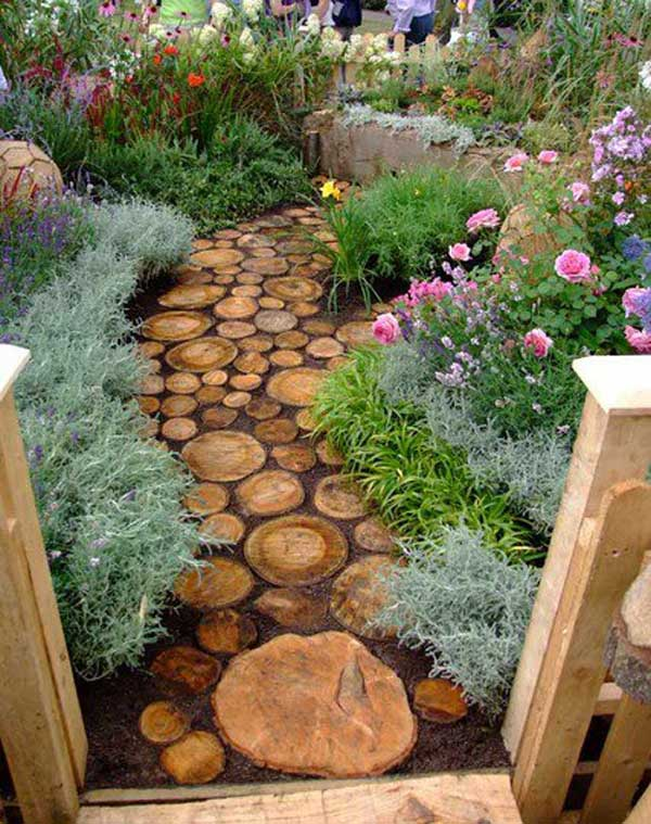 Fab art diy log home garden decor ideas for Diy home garden design