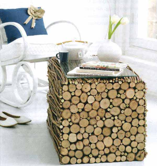 Fab Art DIY Rustic Log Decorating Ideas for Home and Garden8