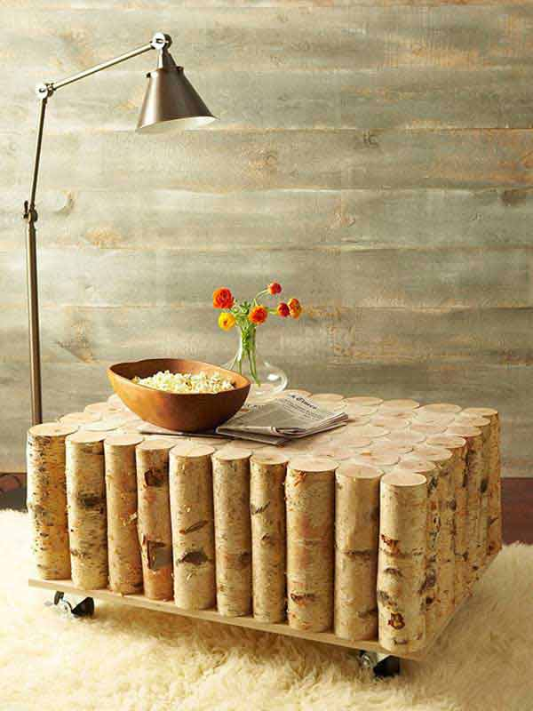 Fab Art DIY Rustic Log Decorating Ideas for Home and Garden9