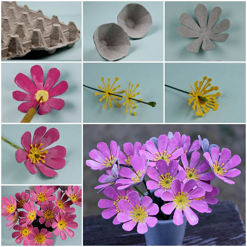 Fab Art DIY Upcycled Egg Carton Decorating Ideas and Tutorials24