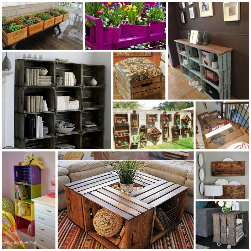 Wood Wine Crate DIY Ideas and Projects