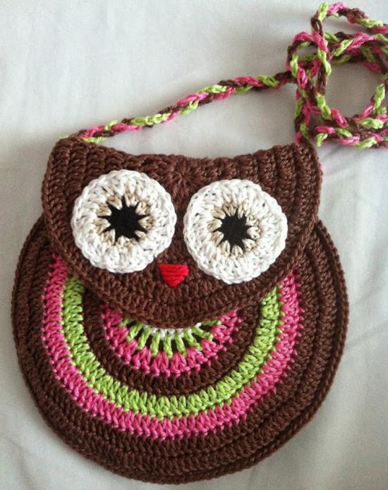 Crochet Owl Bag Free Crochet Patterns