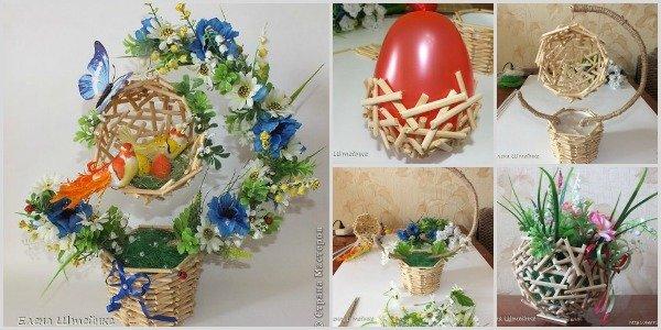 DIY Wood Flower Topiary or Planter