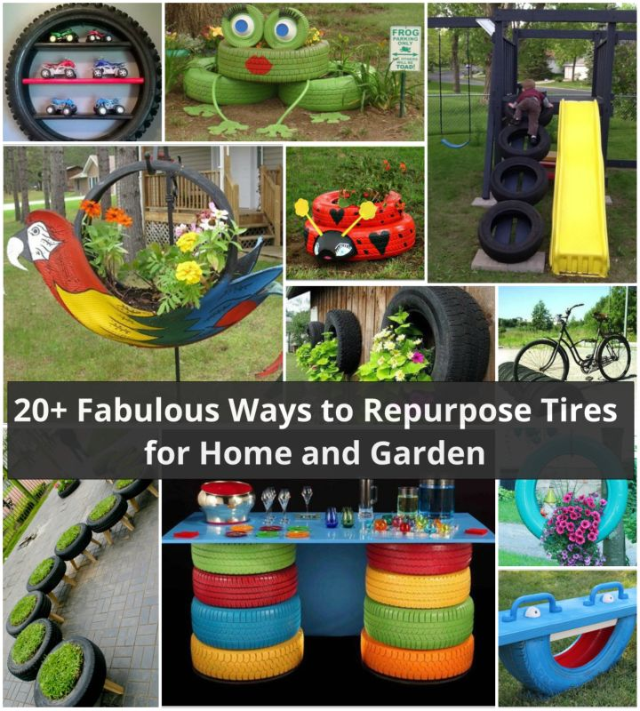 20 DIY Ideas To Repurpose Old Tires For Home And Garden