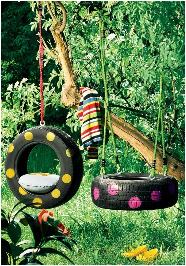 DIY Tire Swings--20+ DIY Ways to Repurpose Old Tires for Home and Garden
