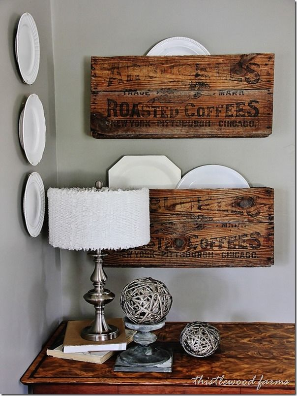 Wood Wine Crate Ideas and Projects - DIY Split Wood Crate Shelves
