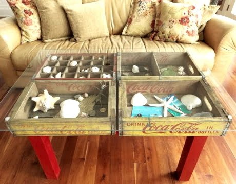 FabArtDIY Wood Wine Crate Ideas and Projects- diy Wood Soda Crate Display Table
