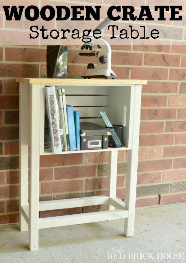 FabArtDIY Wood Wine Crate Ideas and Projects - Wood Crate Storage Table