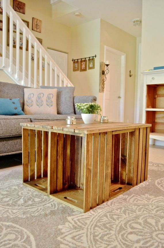 ... Wood Wine Crate Ideas and Projects - Pallet Wine Crate Coffee Table
