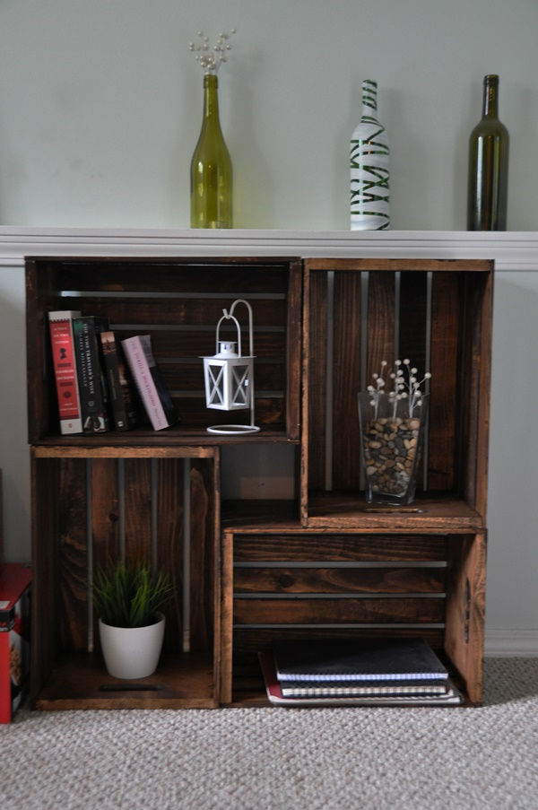 30 fab art diy wood crate up cycle ideas and projects On wine crate ideas