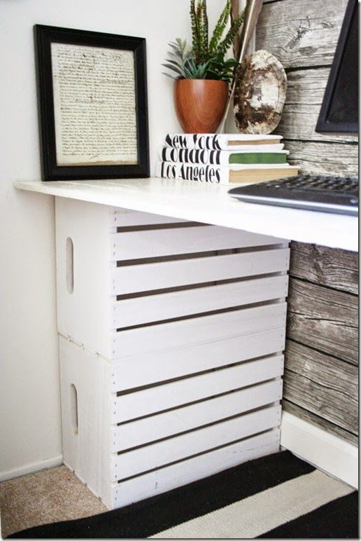 FabArtDIY Wood Wine Crate Ideas and Projects - diy Wood Crate Desk