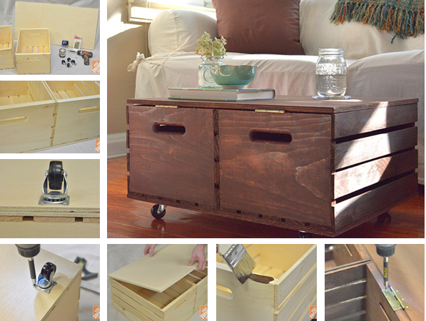 Wood Wine Crate project - DIY Wine Crate Ottoman