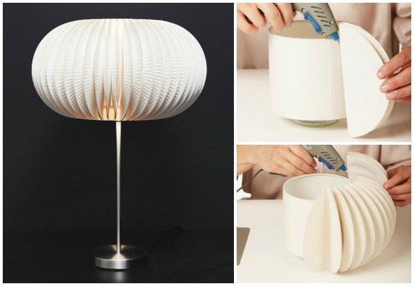 FabArtDIY beautiful paper plate lamp