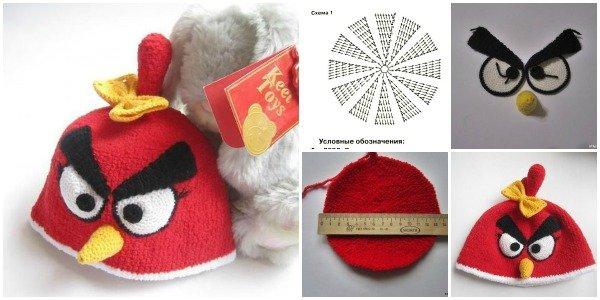 FabArtDIY crochet angry bird hat free pattern