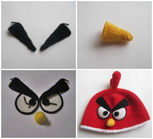 FabArtDIY crochet angry bird hat free pattern03