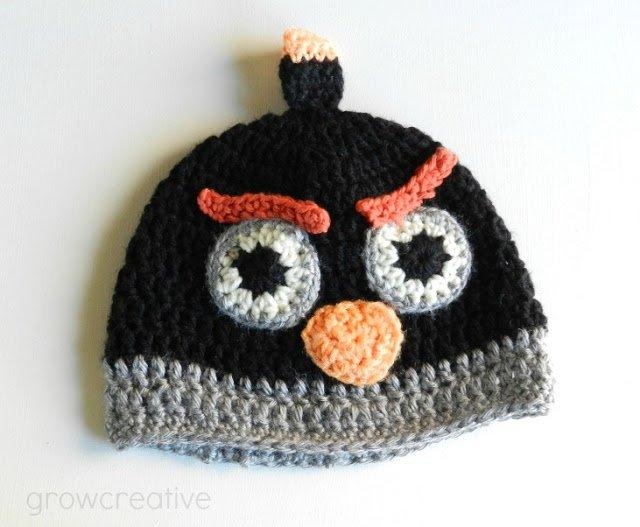 FabArtDIY crochet angry bird hat free pattern05