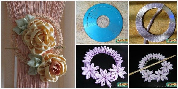 Fabartdiy CD into curtain knot