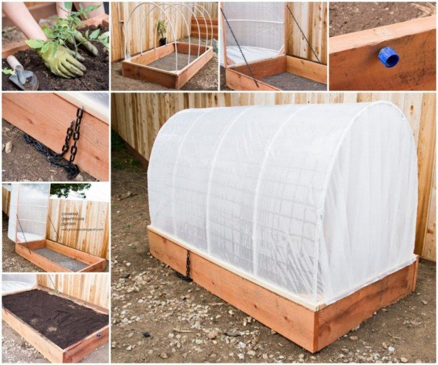 How To Build A Greenhouse Raised Garden Bed