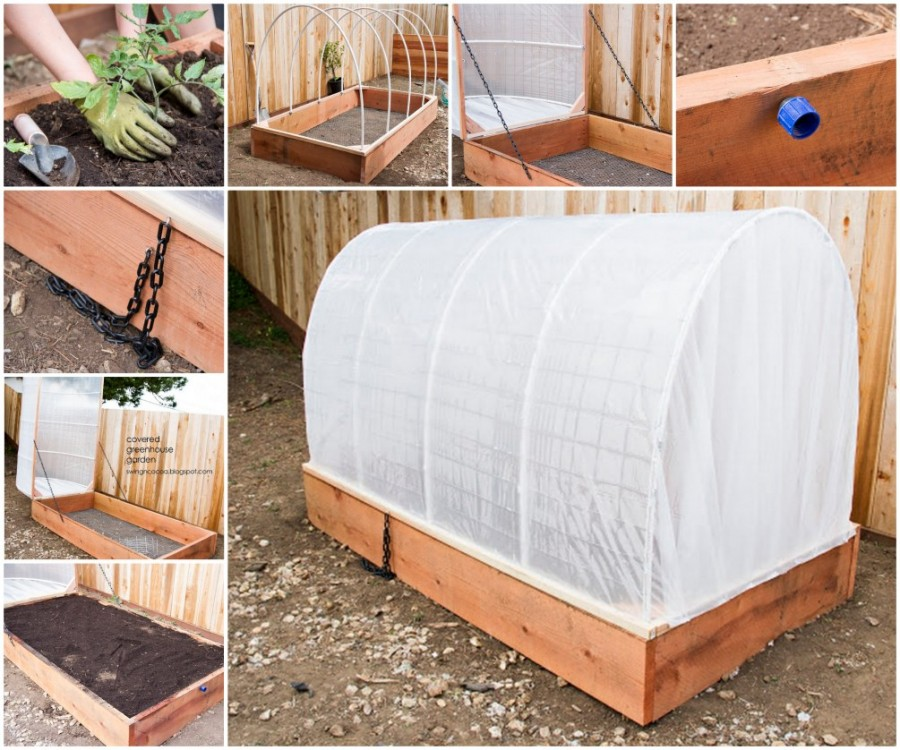 Marvelous How To Build A Greenhouse Raised Garden Bed