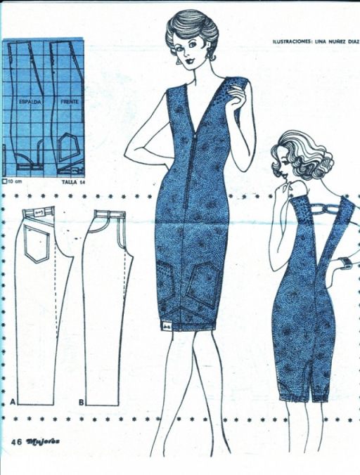 How to Turn Jeans into  Upside Down Dress
