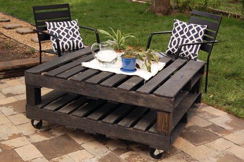20+ Outdoor Pallet Furniture DIY ideas and tutorials-DIY outdoor furniture set