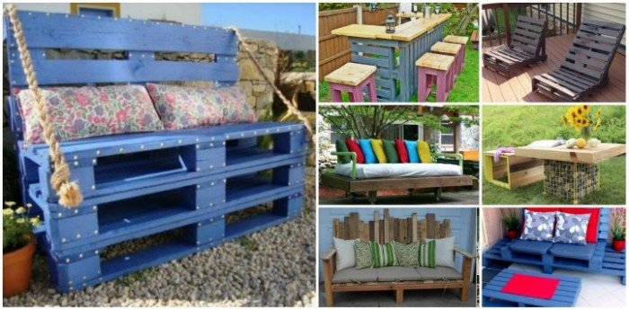 20+ Outdoor Pallet Furniture DIY ideas and tutorials
