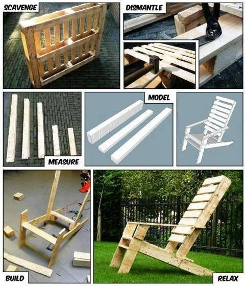 20+ DIY Outdoor Pallet Furniture Ideas and Tutorials-Adirondack Chair from One Pallet