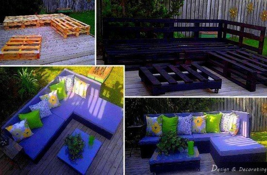 Outdoor Pallet Furniture DIY ideas and tutorials - diy pallet lounge