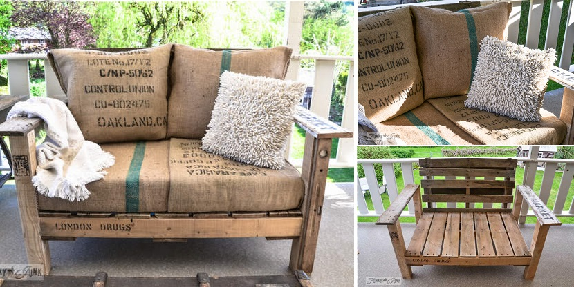 20+ Outdoor Pallet Furniture DIY ideas and tutorials- DIY Pallet wood patio chair