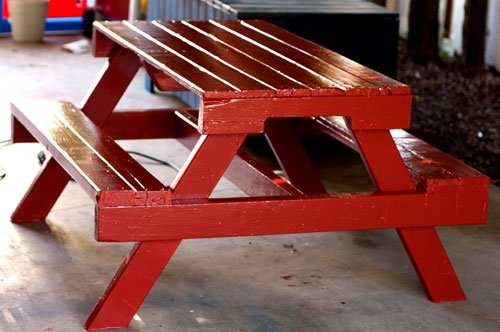 20+ Outdoor Pallet Furniture DIY ideas and tutorials- DIY Pallet Picnic Table