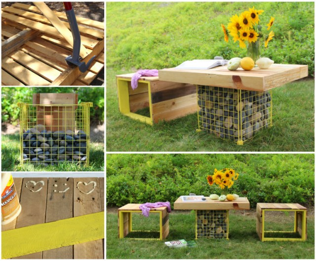 20+ Outdoor Pallet Furniture DIY ideas and tutorials -diy pallet table