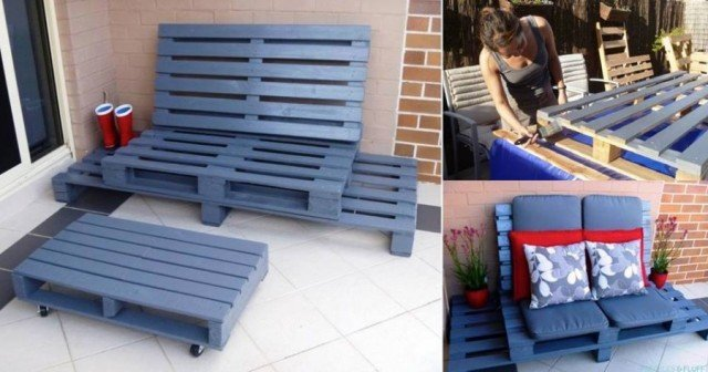 20+ Outdoor Pallet Furniture DIY ideas and tutorials -Wooden Pallet Chillout Lounge
