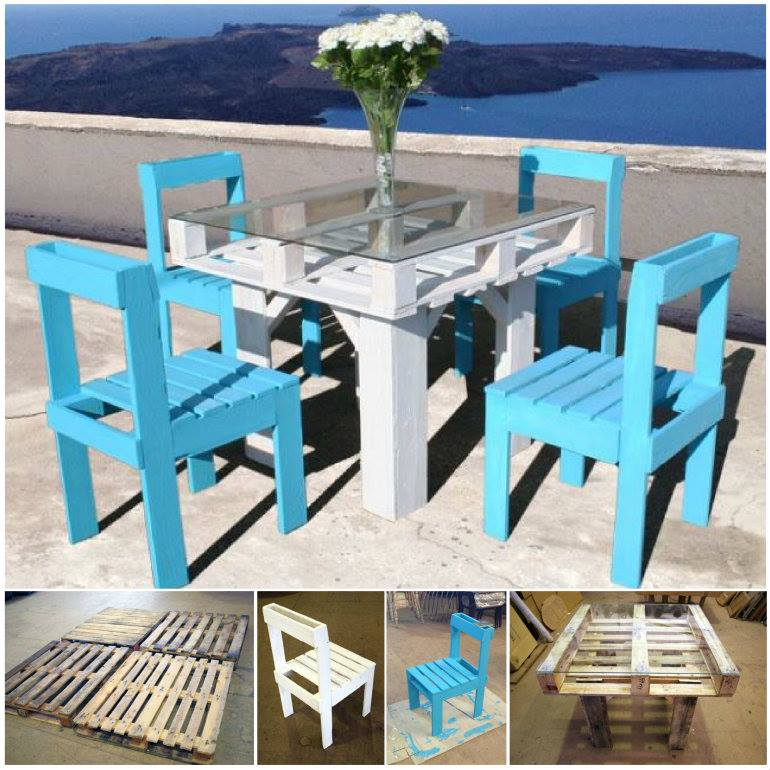 20 outdoor pallet furniture diy ideas and tutorials outdoor pallet dining table and chair build pallet furniture