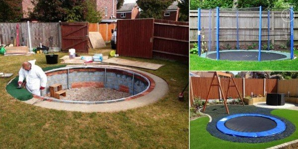 DIY Pool Noodle Trampoline Springs