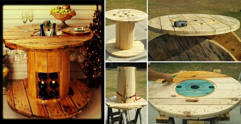 15+ Fab Art DIY Wood Wire Spool Furniture Ideas and Tutorials | www ...