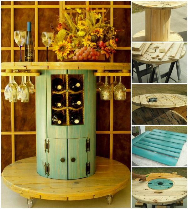 15+ DIY Wood Wire Spool Furniture Ideas and Tutorials
